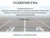 ewelina-certyfikat-konferencja-medycyna-sportowa