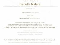 iza-terapia-niemowle-certyfikat